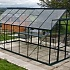 8x14 Vitavia Phoenix Green Greenhouse Toughened Glazing with Staging