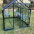 Vitavia Apollo 6x8 Green Greenhouse with Low Threshold Base
