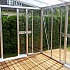 Vitavia Helena Lean to Greenhouse Aluminium Finish Internal