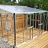 Vitavia Helena Lean to Greenhouse Aluminium Finish Side