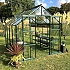 Vitavia Phoenix 8x8 Green Greenhouse with Low Threshold Base