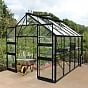 Eden Blockley 8x10 Greenhouse with Black Powder Coating