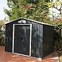 Emerald Anthracite Rosedale 8x8 Metal Shed Front