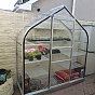 Halls 2ft x 6ft Supreme Wall Garden Lean to with Toughened Glazing