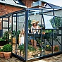 Juliana 10x14 Grey Lean to Greenhouse Gable with Side Vent