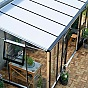 Juliana Silver Lean to Greenhouse with 10mm Polycarbonate Roof Glazing