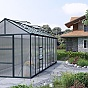 Palram 8x20 Glory Polycarbonate Greenhouse with Low Entry Threshold