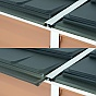 Palram 4x6 Pent Plastic Skylight Grey Shed Sliding Panels
