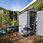 Palram 4x6 Plastic Skylight Garden Storage Shed in Grey