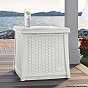 Suncast White 49litre Side table with Storage