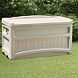 Suncast 276 Litre Plastic Storage Box With Seat in Taupe