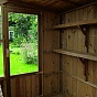Swallow Potting Shed Rear Staging and Shelves in Thermowood